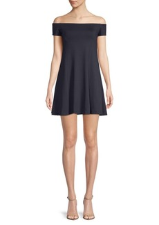 Susana Monaco Abigail Off-The-Shoulder Mini Dress