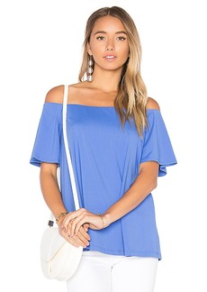 Susana Monaco Adela Top in Blue. - size M (also in L,S,XS)