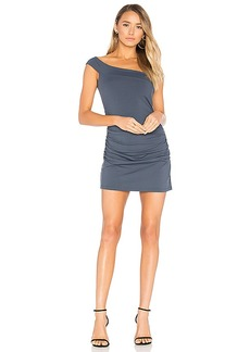 Susana Monaco Clementine 16 Mini Dress in Charcoal. - size L (also in M,S)
