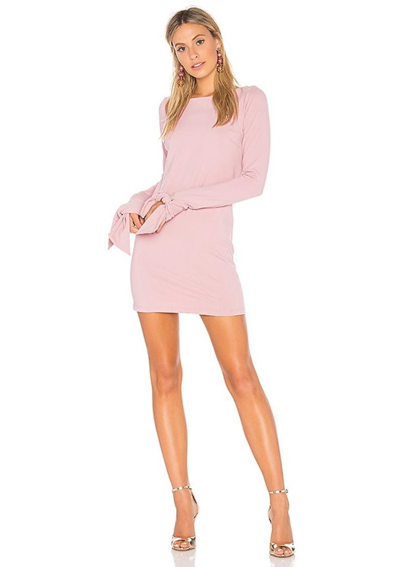 Susana Monaco Tied Sleeve Mini Dress