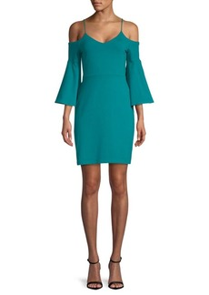 Susana Monaco Cold-Shoulder Bell-Sleeve Dress