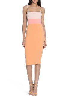 Susana Monaco Colorblock Sleeveless Cutous Midi Dress