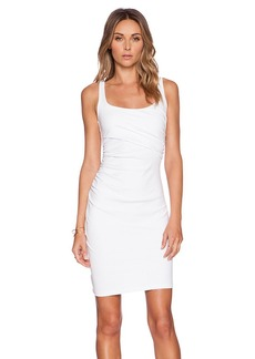 Susana Monaco Cross Gather Tank Dress in White. - size M (also in S,XS)