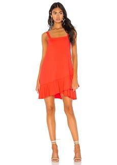 Susana Monaco Crossover Ruffle Wide Strap Dress