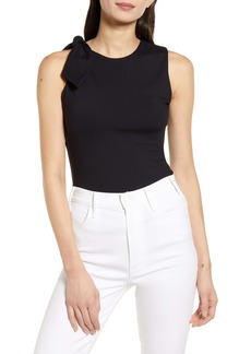 Susana Monaco Curve Bow Sleeveless Sweater