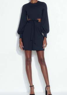 Susana Monaco Cutout Bow Long Sleeve Dress