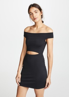 Susana Monaco Cutout Off the Shoulder Mini Dress