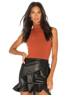 Susana Monaco Erika Bodysuit in Burnt Orange. - size L (also in XS,S,M)
