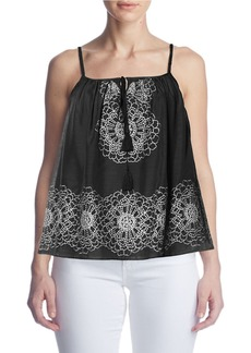 SUSANA MONACO Fifi Embroidered Floral Top