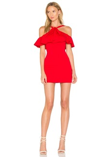 Susana Monaco Flounced Overlay Dress