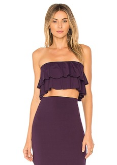 Susana Monaco Flora Ruffle Top in Purple. - size L (also in M,S,XS)