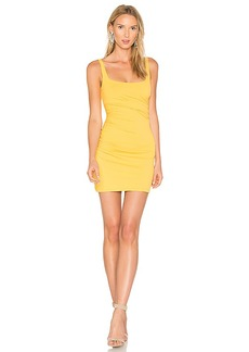 Susana Monaco Gather Tank 17 Dress in Yellow. - size L (also in M,S,XS)