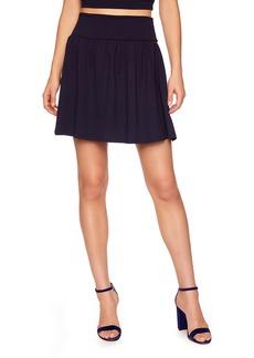 Susana Monaco Gathered Flare Miniskirt