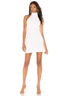 Susana Monaco Gathered High Neck Halter Dress 16