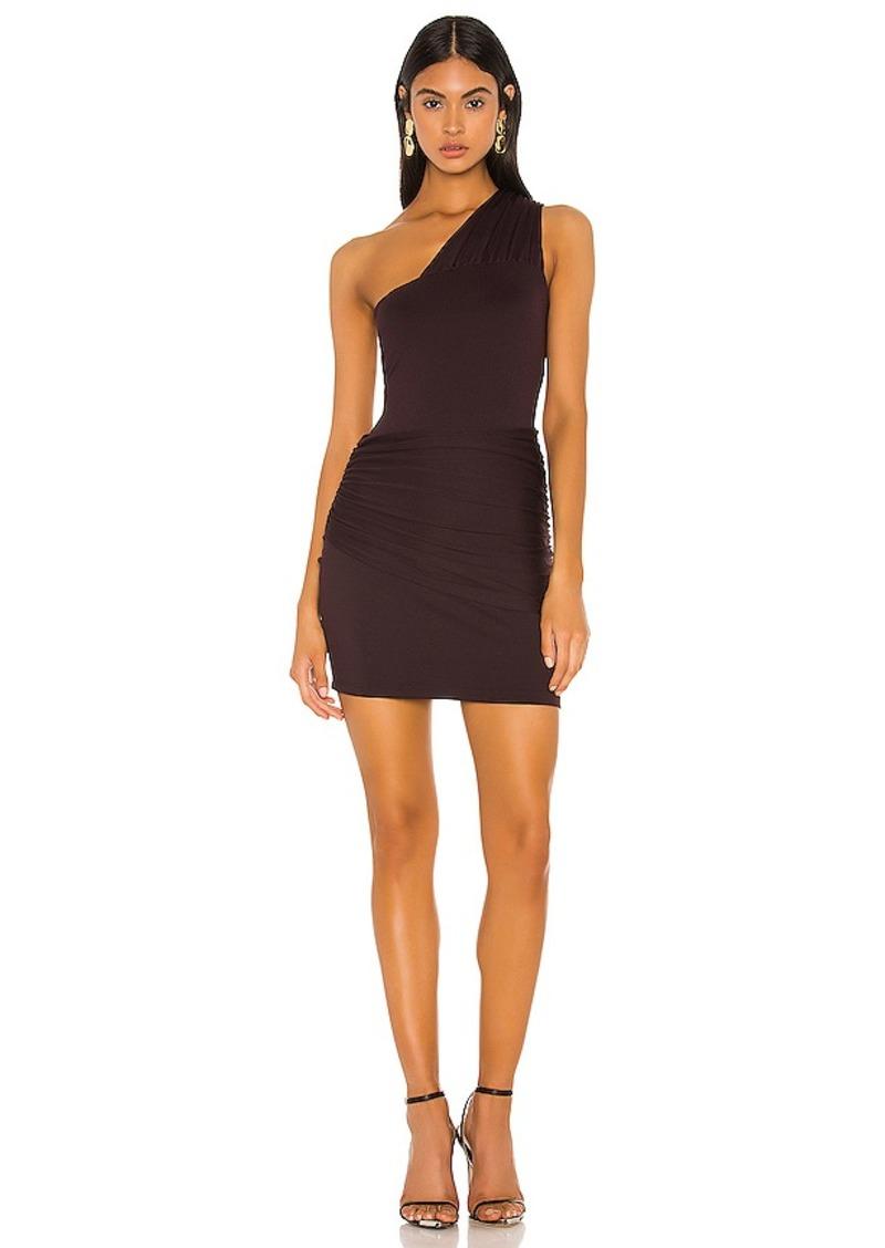 Susana Monaco Gathered Overlay One Shoulder Dress