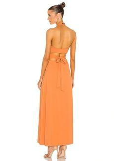 Susana Monaco High Neck Low Back Dress