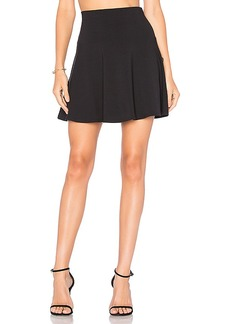 Susana Monaco High Waist Flare 16 Skirt in Black. - size XS (also in L,M)