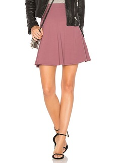 Susana Monaco High Waist Flare 16 Skirt in Mauve. - size L (also in M,S,XS)