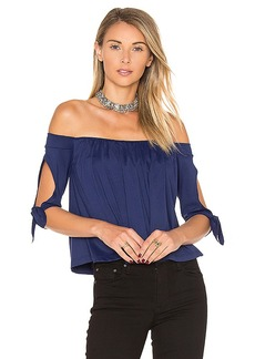 Susana Monaco Issa Top in Blue. - size L (also in M,S)