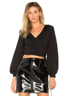 Susana Monaco Kathy Top in Black. - size L (also in M,S,XS)