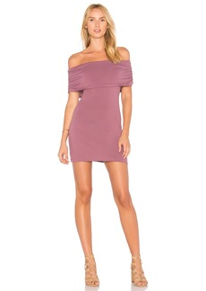 Susana Monaco Ruched Fold Over Dress