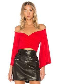 Susana Monaco Kinleyn Top in Red. - size L (also in M,XS)