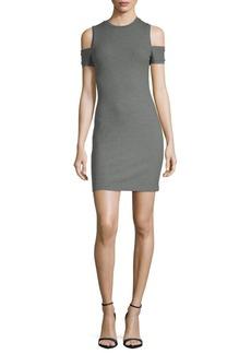 Susana Monaco Kira Crewneck Cold-Shoulder Dress