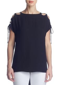 SUSANA MONACO Kloe Cold Shoulder Tie Top