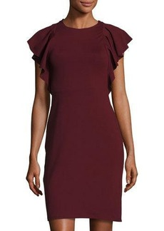 Susana Monaco Lana Ruffle-Sleeve Dress