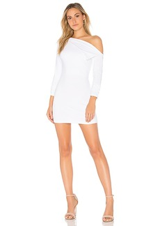 Susana Monaco Off Shoulder Lapel Dress