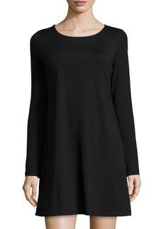 Susana Monaco Long-Sleeve Crewneck Dress