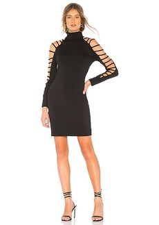 Susana Monaco Long Sleeve Cutout Dress