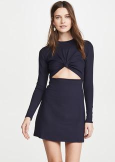 Susana Monaco Long Sleeve Knot Front Dress