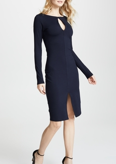 Susana Monaco Long Sleeve Slit Front Dress