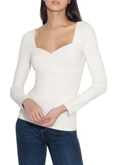 Susana Monaco Long Sleeve Sweetheart Top