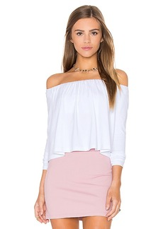 Susana Monaco Molly Off the Shoulder Top in White. - size L (also in M)