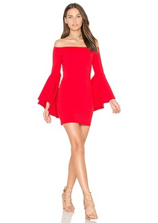 Susana Monaco Off Shoulder Dress in Red. - size L (also in M,S,XS)