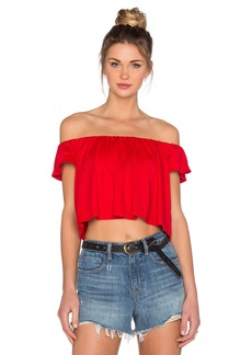 Susana Monaco Off the Shoulder Crop Top