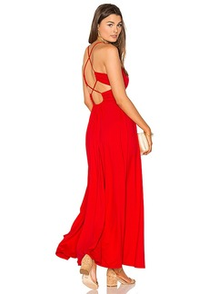 Susana Monaco Phaedra Maxi Dress in Red. - size M (also in S,XS)
