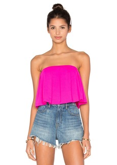 Susana Monaco Pleated Crop Top