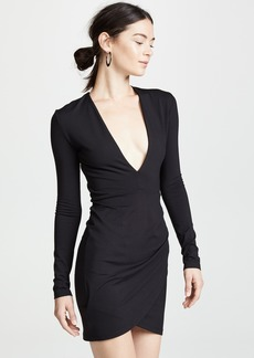 Susana Monaco Plunge Neck Mini Dress