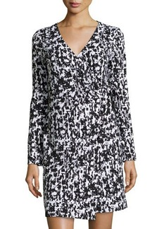 Susana Monaco Printed Long-Sleeve Wrap Dress