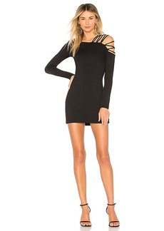 Susana Monaco Laced Open Shoulder Dress