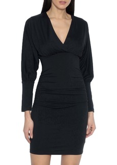 Susana Monaco Ruched Long Dolman Sleeve Dress