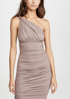 Susana Monaco Ruched Twisted Shoulder Dress