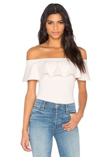Susana Monaco Ruffle Off the Shoulder Top
