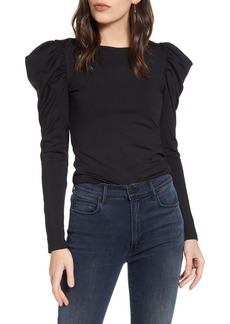 Susana Monaco Ruffle Shoulder Top