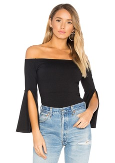 Susana Monaco Off Shoulder Split Sleeve Top