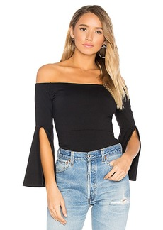 Susana Monaco Sidney Top in Black. - size L (also in XS,S,M)