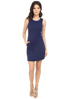 Susana Monaco Sleeveless Pocket Shift Dress